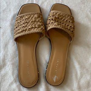 Woven slide sandals